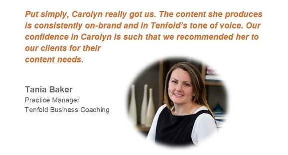 Tenfold Business Coaching Testimonial