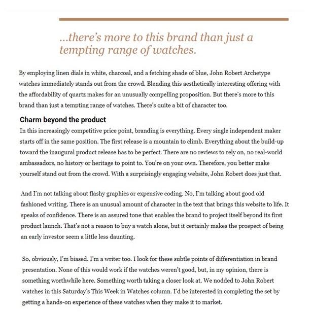 Fratello Excerpt JRW article